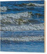 Gentle Roll Of The Waves Wood Print
