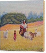 Gentle Shepherdess Wood Print