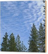 Gentle Sky Wood Print