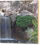 Gentle Waterfall Wood Print