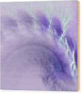 Gentle Wave Of Purple Wood Print