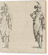 Gentleman Viewed From The Front With Hand On Hip Wood Print