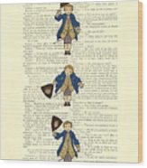 Gentlemen Taking A Bow Dressed As Napoleon Bonaparte Wood Print