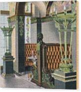 Gentlemen's Grill - Alexandria Hotel - Los Angeles - 1910s Wood Print