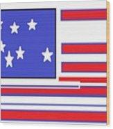 Geo Flag Wood Print