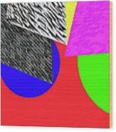 Geo Shapes 2a Wood Print