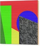 Geo Shapes 3 Wood Print