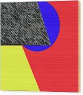 Geo Shapes 4a Wood Print