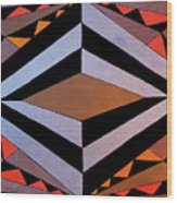 Geo Sphere Wood Print