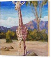 Geoffrey Giraffe Wood Print