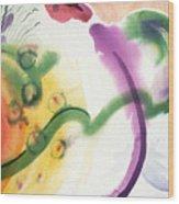 Geomantic Blossom Ripening Wood Print
