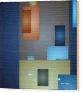 Geometric Abstract 0790  Wood Print
