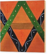 Geometric Abstract II Wood Print