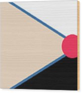 Geometric Art 123 Wood Print