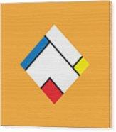 Geometric Art 307 Wood Print