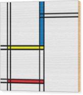 Geometric Art 344 Wood Print
