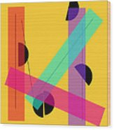 Geometric Art 419 Wood Print