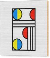 Geometric Art 429 Wood Print