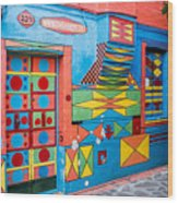 Geometric Art In Burano Wood Print