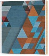 Geometric Beginnings Wood Print