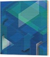 Geometric Composition  Wood Print