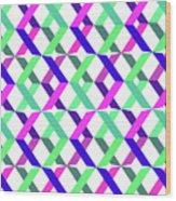Geometric Crosses Wood Print