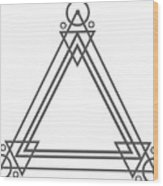 Geometric Design Series One Wood Print