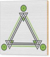 Geometric Design Series Three Wood Print