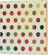 Geometric Dots Wood Print