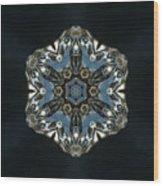 Geometric Glass Reflection Wood Print