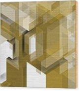 Geometric Gold Composition Wood Print