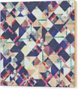 Geometric Grunge Pattern Wood Print