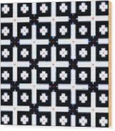 Geometric In Black And White Wood Print