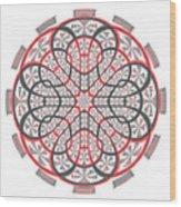 Geometric Mandala Wood Print
