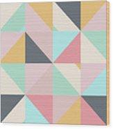 Geometric Pattern Xv Wood Print