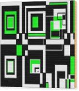 Geometric Pizazz 4 Wood Print