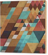 Geometric Positivity Wood Print