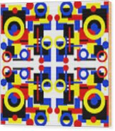 Geometric Shapes Abstract Square 2 Wood Print