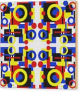 Geometric Shapes Abstract Square 3 Wood Print