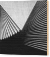 Geometric Shapes And Stairs Wood Print