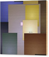 Geometric Squares Wood Print