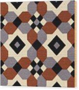 Geometric Textile Design Wood Print