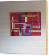 Geometrical Abstract Wood Print