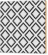 Geometricsquaresdiamondpattern Wood Print