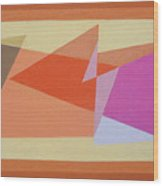 Geometry Shapes And Colors 6 Wood Print