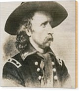 George Armstrong Custer  Wood Print
