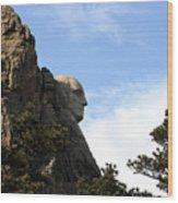 George At Mount Rushmore Wood Print