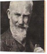 George Bernard Shaw Author Wood Print