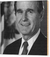 George Bush Sr Wood Print