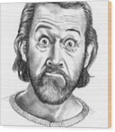 George Carlin Wood Print